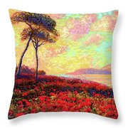 Enchanted By Poppies Throw Pillow by Jane Small