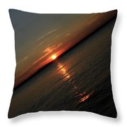 End Of An Off Balance Day Throw Pillow by Karol  Livote