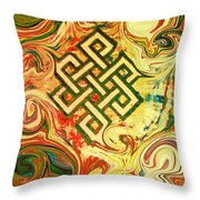 Endless Knot Two Throw Pillow by Kevin J Cooper Artwork