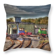 Engine Sheds Quainton Road Buckinghamshire Railway Throw Pillow by Chris Thaxter