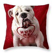 English Bulldog Throw Pillow by Garry Gay