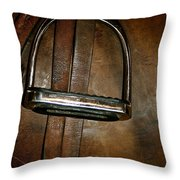 English Leather Throw Pillow by Susan Herber