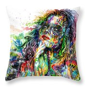 Enigma Throw Pillow by Callie Fink