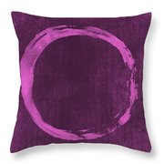 Enso 4 Throw Pillow by Julie Niemela
