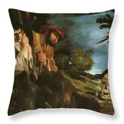 Et In Arcadia Ego Throw Pillow by Giovanni Francesco Barbieri