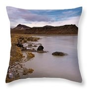 ET Lake II Throw Pillow by Kurt Golgart