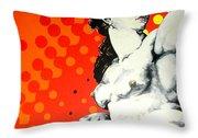 Eva Throw Pillow by Jean Pierre Rousselet