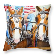 Everybody Loves A Parade Throw Pillow by Ally Benbrook