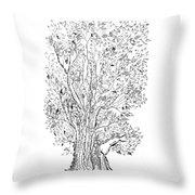 Evolutionary Tree Throw Pillow by Regina Valluzzi