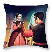Execution Of Mary Queen Of Scots Throw Pillow by English School