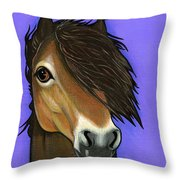 Exmoor Pony  Throw Pillow by Leanne Wilkes