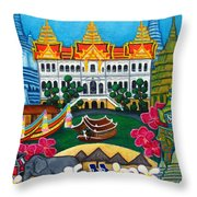 Exotic Bangkok Throw Pillow by Lisa  Lorenz
