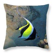 Exotic Reef Fish  Throw Pillow by Bette Phelan