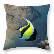 Exotic Reef Fish  Throw Pillow by Bette Phelan