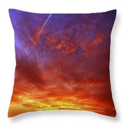 exploded sky Throw Pillow by Michal Boubin