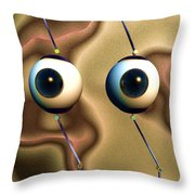 Eye Gestures Throw Pillow by Richard Rizzo