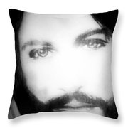 Face Of Jesus Throw Pillow by Susan  Solak