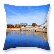 Fairmount Water Works - Philadelphia Throw Pillow by Bill Cannon