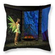 Fairy Haven Throw Pillow by Corey Ford