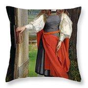 Faith Throw Pillow by George Dunlop Leslie