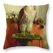 Falcon Throw Pillow by Sir Edwin Landseer
