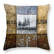 Fall Into Winter Throw Pillow by Carol Leigh