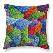 Fall Leaves On Grass Throw Pillow by Sean Corcoran
