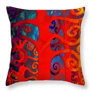 Family  Throw Pillow by Angelina Vick