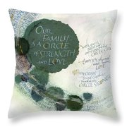 Family Circle Throw Pillow by Judy Dodds
