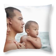 Family Of The Ocean Throw Pillow by Brandon Tabiolo - Printscapes