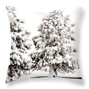 Family Of Trees Throw Pillow by Marilyn Hunt