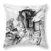 Fantasy Drawing 3 Throw Pillow by Svetlana Novikova
