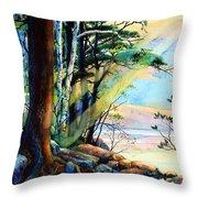 Fantasy Island Throw Pillow by Hanne Lore Koehler