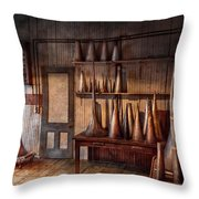 Fantasy - Wizard Hat Prototype Lab Throw Pillow by Mike Savad