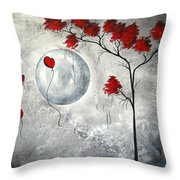 Far Side of the Moon by MADART Throw Pillow by Megan Duncanson