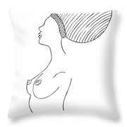 Fashion drawing Throw Pillow by Frank Tschakert