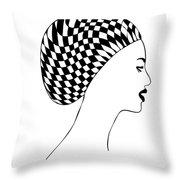 Fashion illustration Throw Pillow by Frank Tschakert