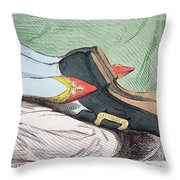 Fashionable Contrasts Throw Pillow by James Gillray