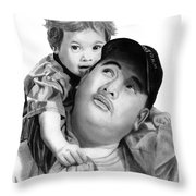 Father And Son  Throw Pillow by Peter Piatt