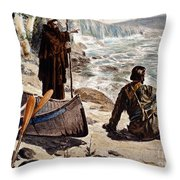 FATHER LOUIS HENNEPIN Throw Pillow by Granger