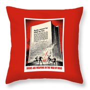 Fdr Quote On Book Burning  Throw Pillow by War Is Hell Store