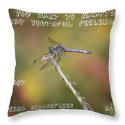 Feel Young Again Throw Pillow by Carol Groenen