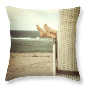 feet Throw Pillow by Joana Kruse