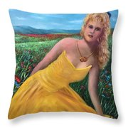 Felicia Throw Pillow by Randy Burns