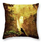 Felt Mountain Throw Pillow by Andrew Paranavitana