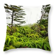 Fern And Norfolk II Throw Pillow by Ron Dahlquist - Printscapes