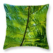 Fern Detail Throw Pillow by Himani - Printscapes