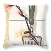 Festive Antique Herb Cutter Throw Pillow by Ken Powers