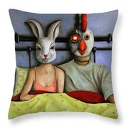 Fetish Nightmare Throw Pillow by Leah Saulnier The Painting Maniac