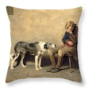Fidelity Throw Pillow by Briton Riviere